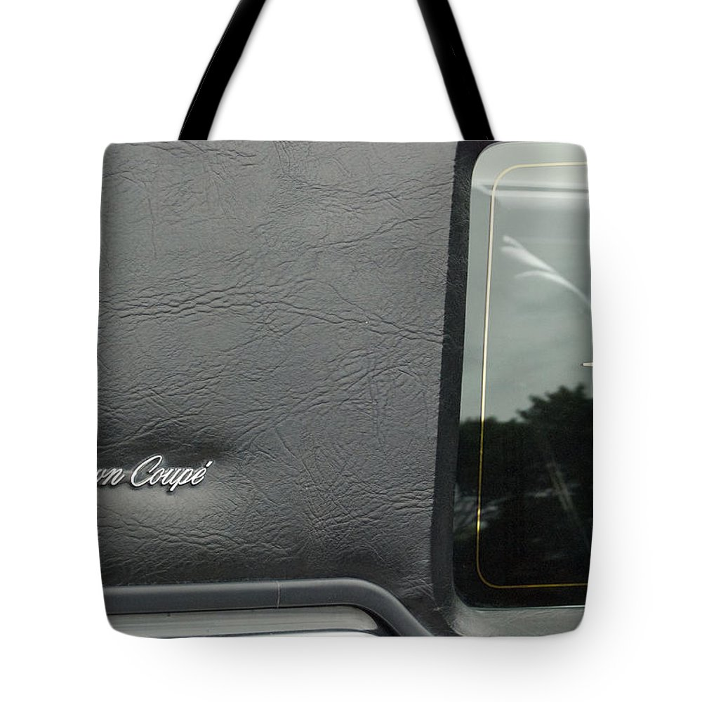 Transportation Tote Bag featuring the photograph Town Coupe Emblem by Thomas Woolworth