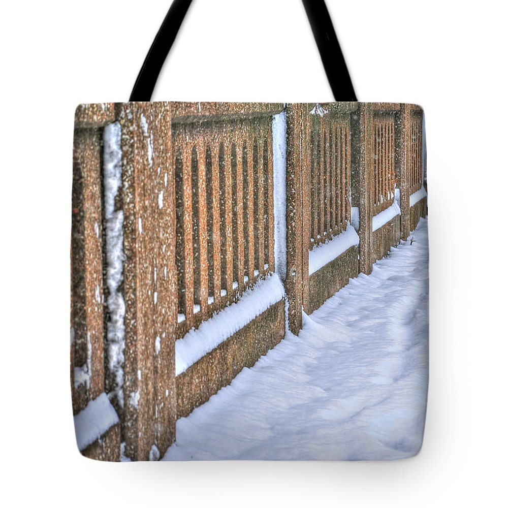 Tote Bag featuring the photograph Tracks In The Snow by Michael Frank Jr