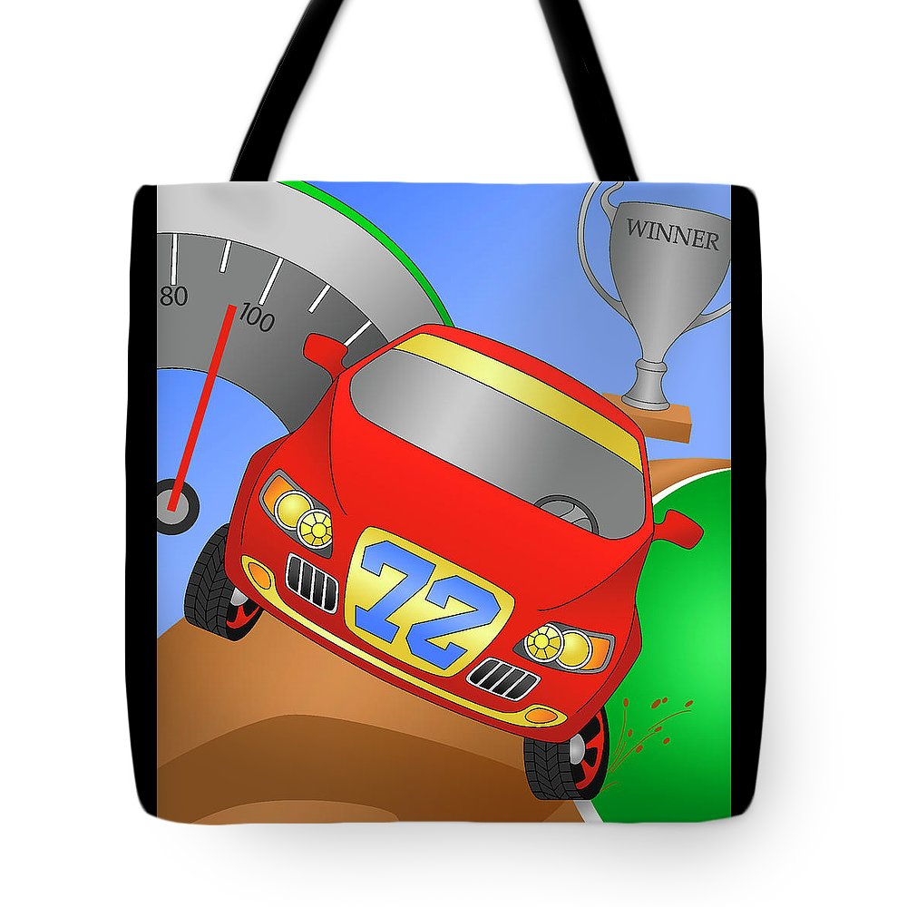 Vehicle Tote Bag featuring the digital art Traction by Alison Stein