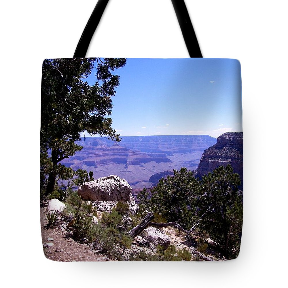 Grand Canyon Tote Bag featuring the photograph Trail To The Canyon by Dany Lison