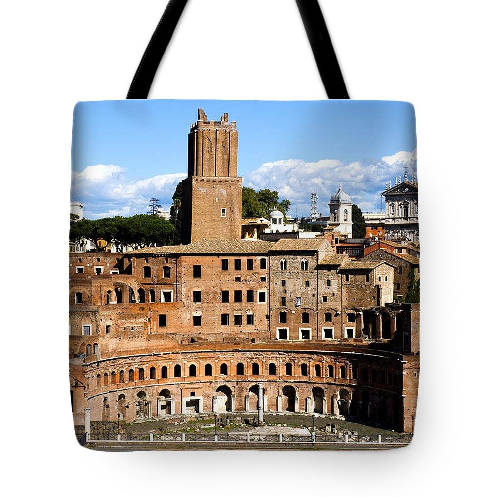 Trajan Market Tote Bag featuring the photograph Trajan's Market by Fabrizio Troiani