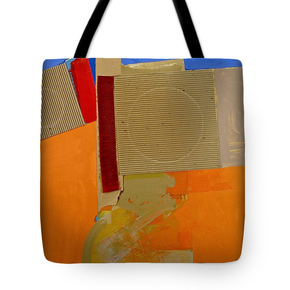 Abstract Paintings Tote Bag featuring the painting Transition 4 Red Crepe by Cliff Spohn