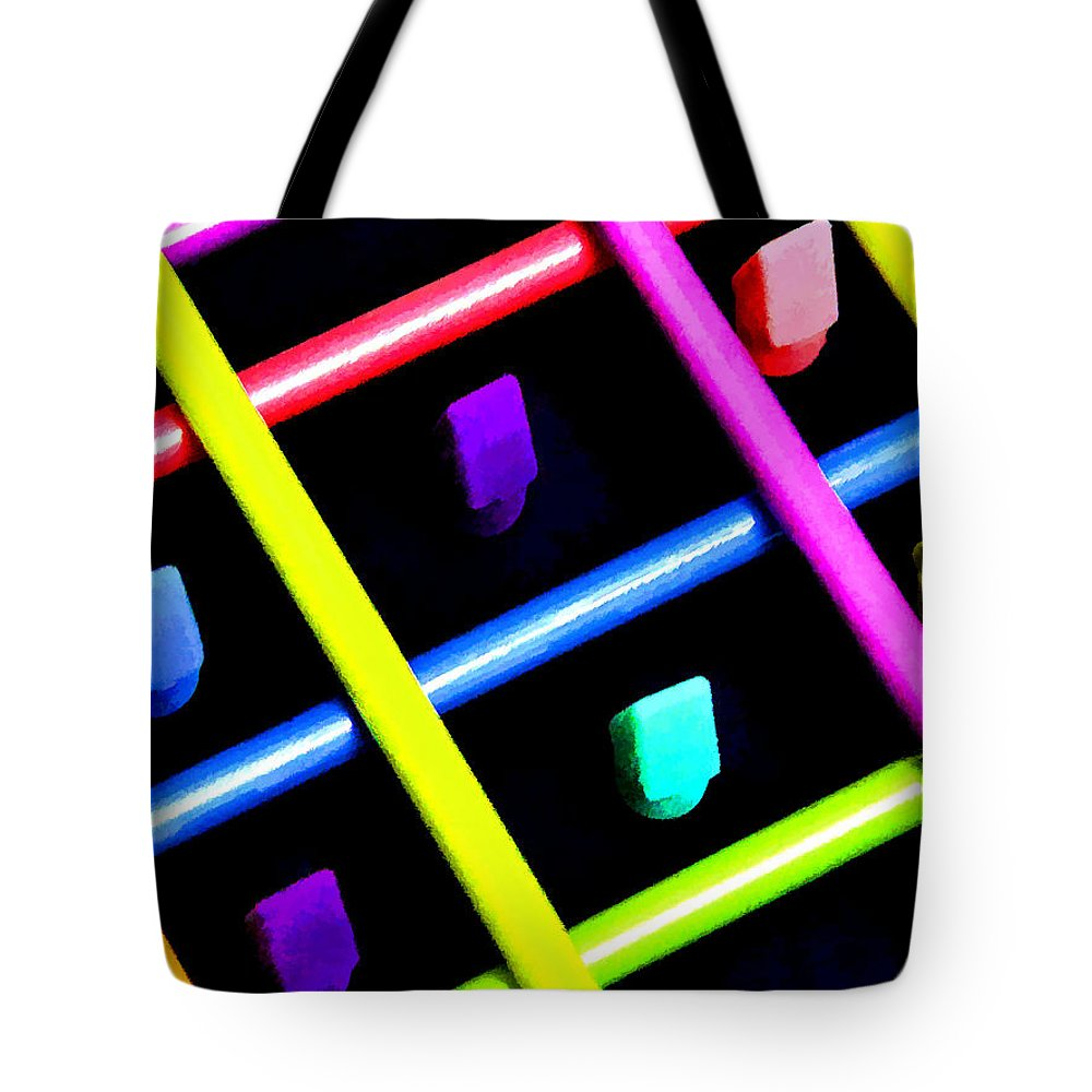 Colored Pencils Tote Bag featuring the photograph Trapped by Diane Wood