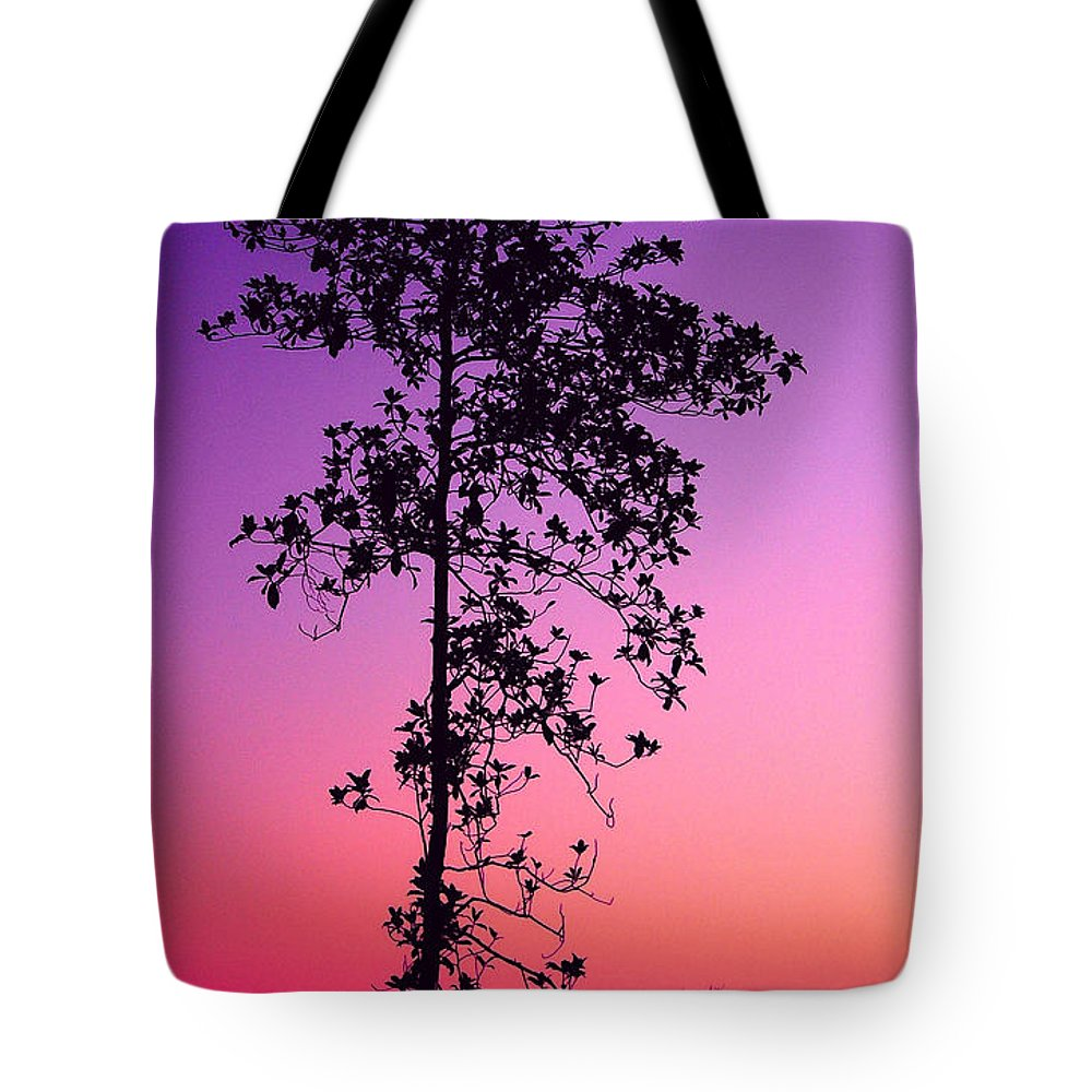 Tree Tote Bag featuring the photograph Tree At Twilight by Judi Bagwell
