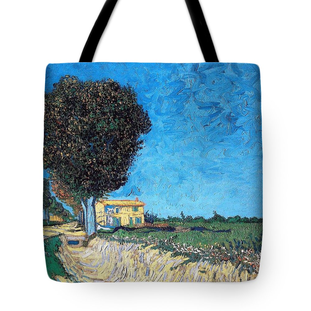 Farm Tote Bag featuring the photograph Tree House At A Farm by Sumit Mehndiratta