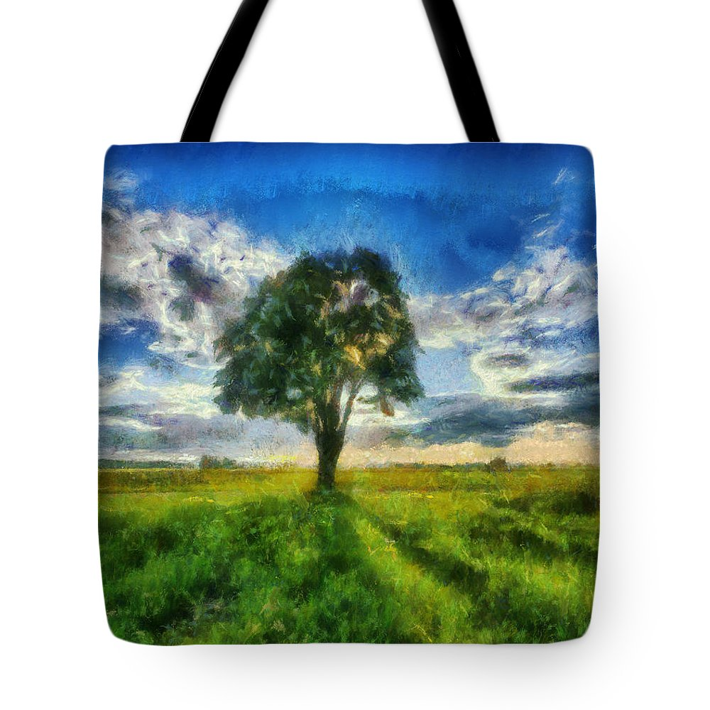 Www.themidnightstreets.net Tote Bag featuring the painting Tree Of Life by Joe Misrasi