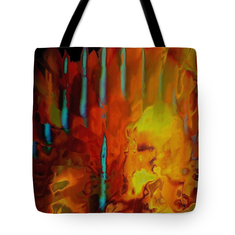 Abstract Tote Bag featuring the photograph Tribal Tribute by Renate Nadi Wesley