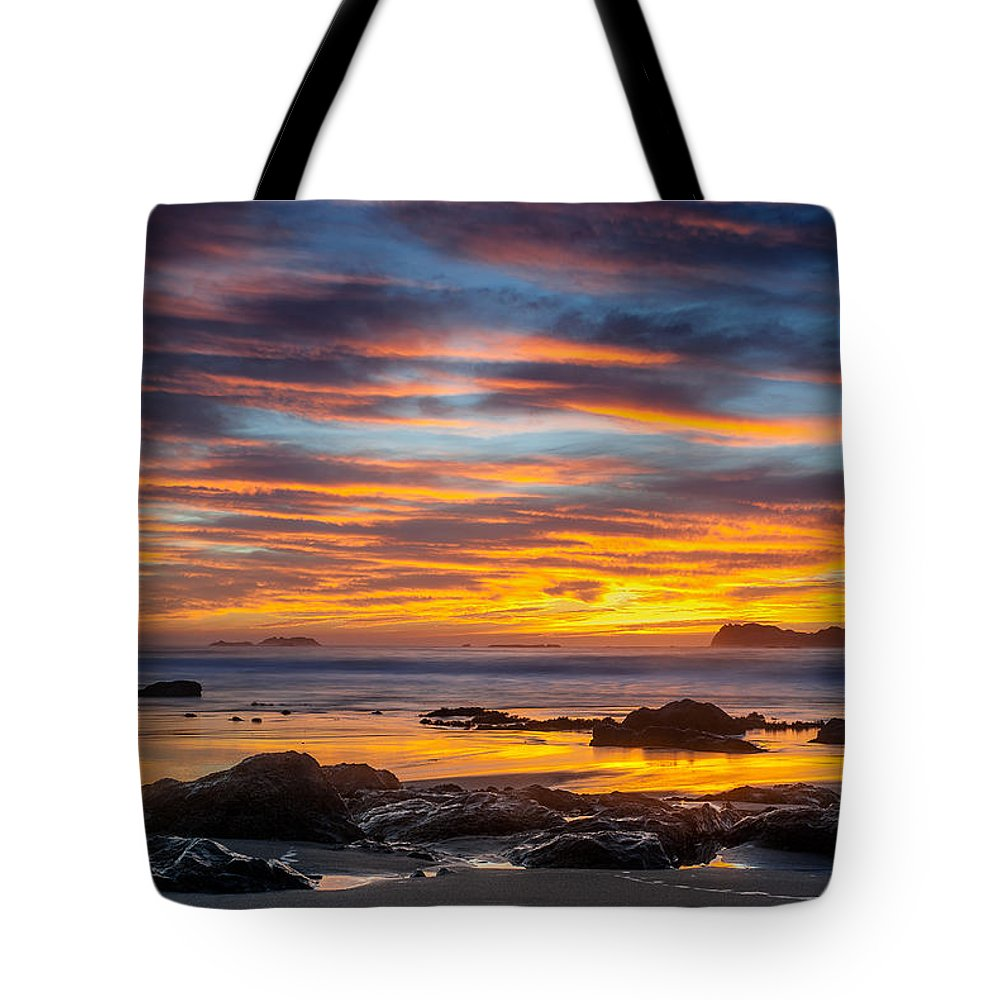 Trinidad State Beach Tote Bag featuring the photograph Trinidad Dusk by Greg Nyquist