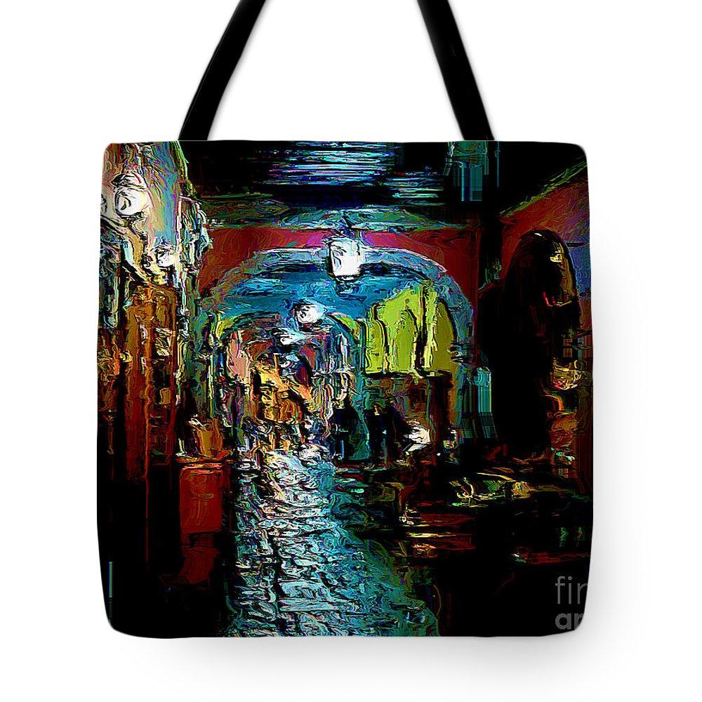 San Miguel De Allende Tote Bag featuring the digital art Trippin In San Miguel by John Kolenberg