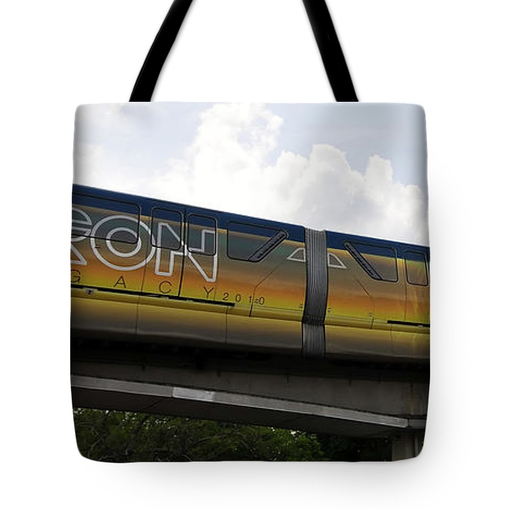 Fine Art Photography Tote Bag featuring the photograph Tron Legacy 2010 by David Lee Thompson