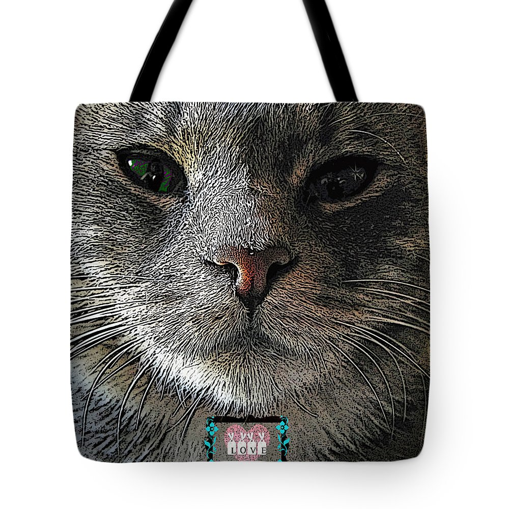 Cat Tote Bag featuring the photograph True Unconditional Love by Teri Schuster