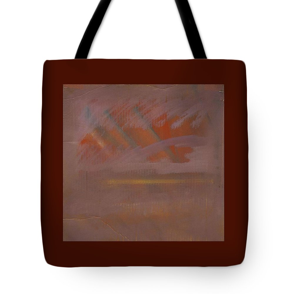 Tsunami Tote Bag featuring the painting Tsunami Morning by Charles Stuart