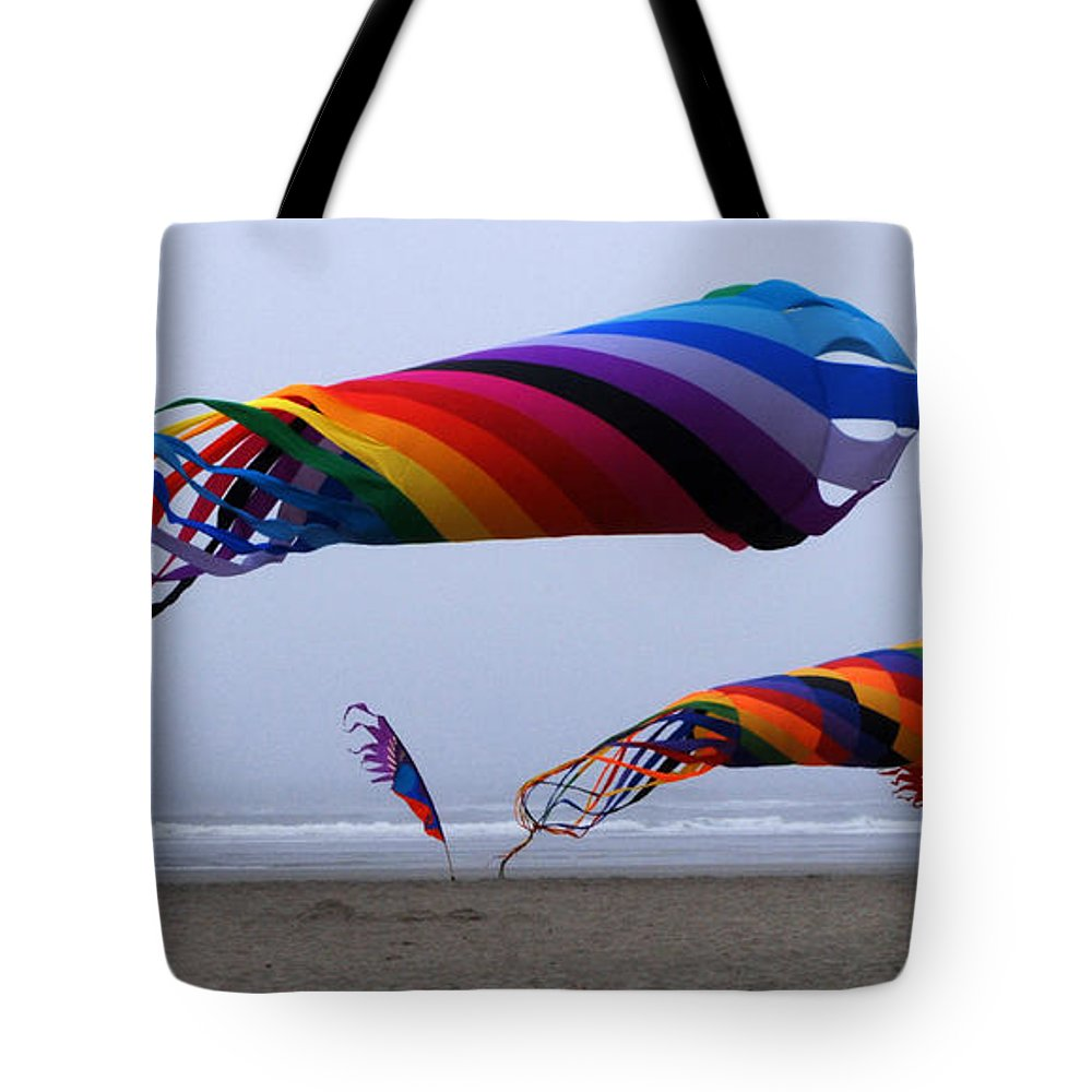 Kites Tote Bag featuring the photograph Go Fly A Kite 9 by Bob Christopher
