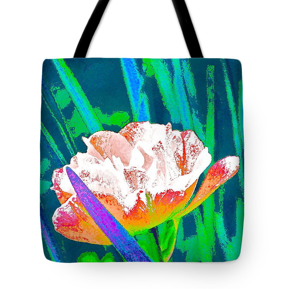 Floral Tote Bag featuring the photograph Tulip 45 by Pamela Cooper