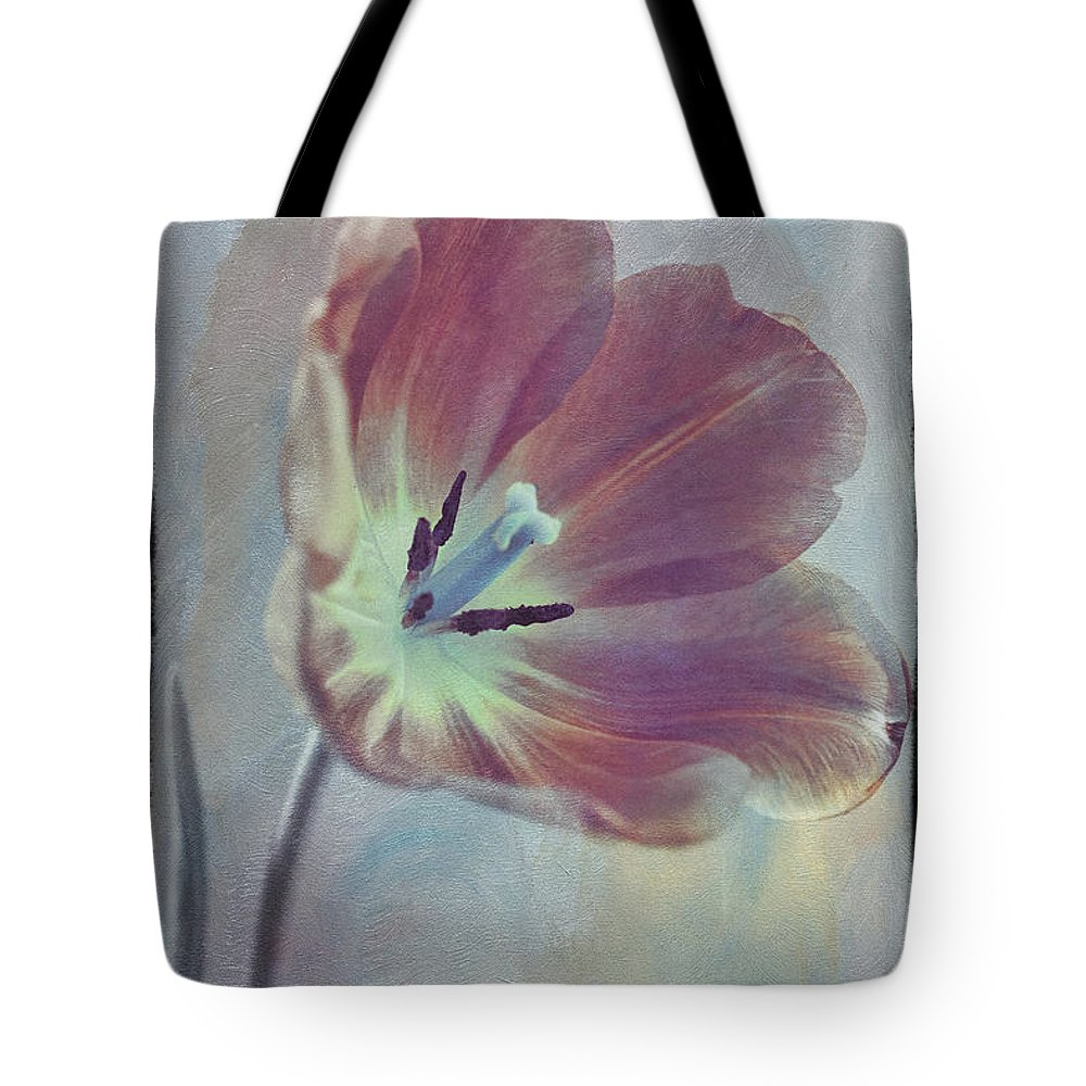 Florals Tote Bag featuring the photograph Tulip Adventure by Linda Dunn