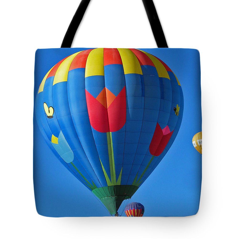 Balloon Tote Bag featuring the photograph Tulip Hot Air Balloon by Elizabeth Rose
