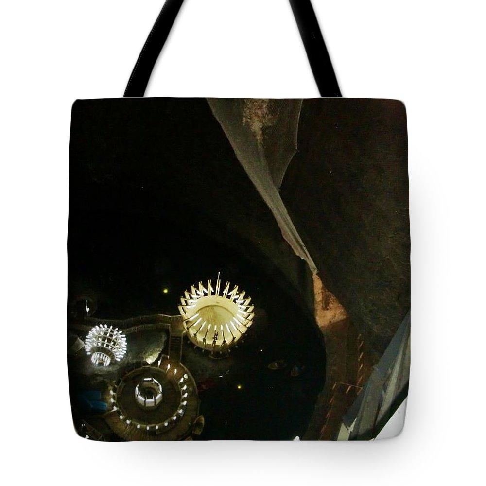 Salt Mine Tote Bag featuring the photograph Turda Salt Mine by Amalia Suruceanu
