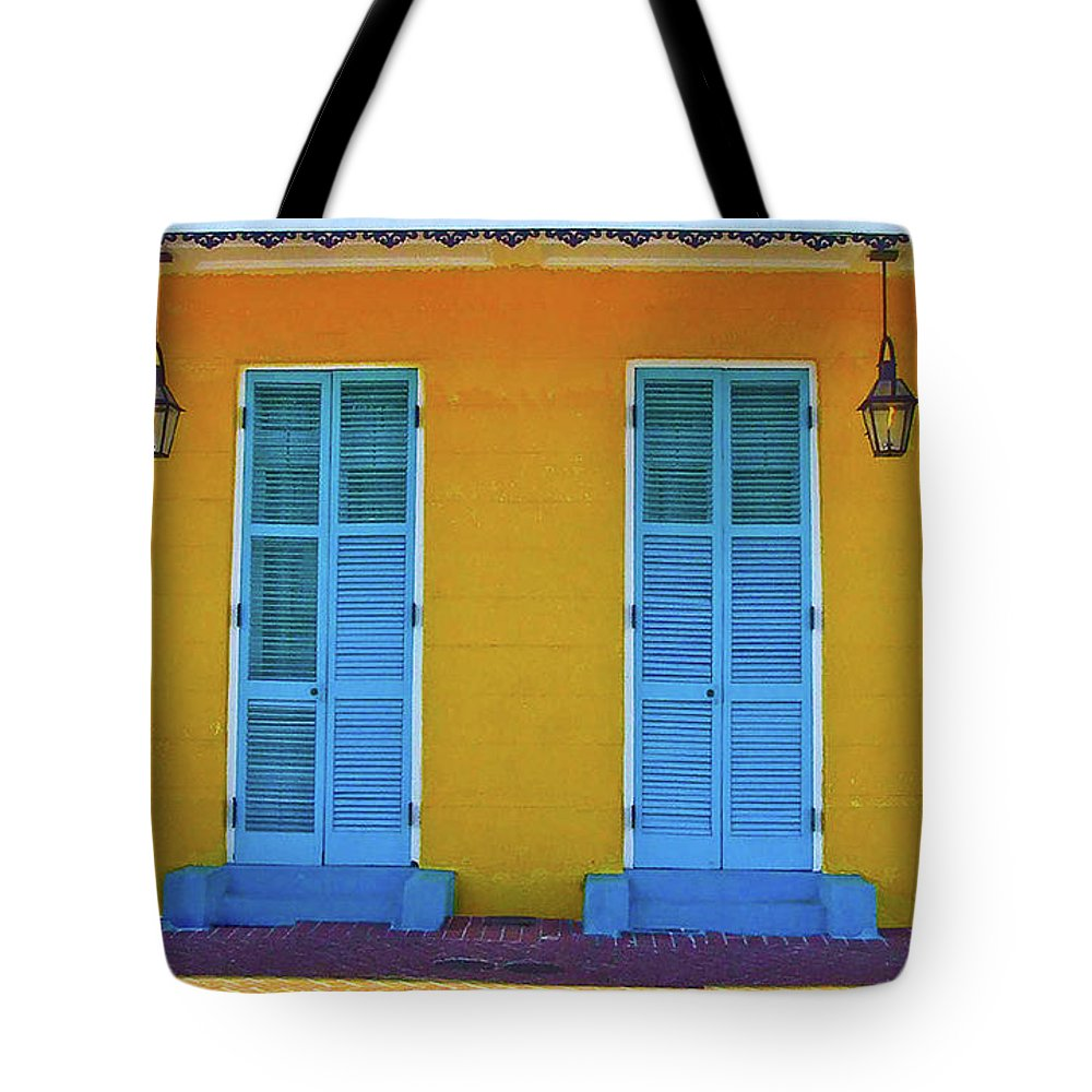 Turquoise Tote Bag featuring the photograph Turquoise And Yellow by Frances Hattier