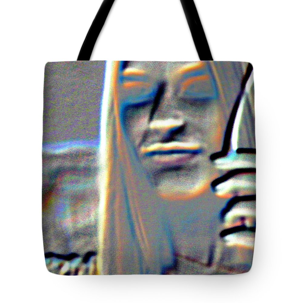 Abstract Tote Bag featuring the photograph Tv Woman by Lenore Senior