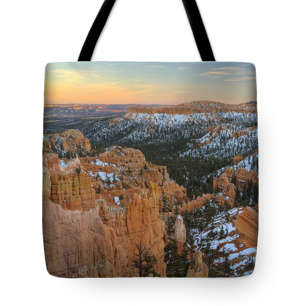 Bryce Canyon Tote Bag featuring the photograph Twilight At Bryce by Idaho Scenic Images Linda Lantzy