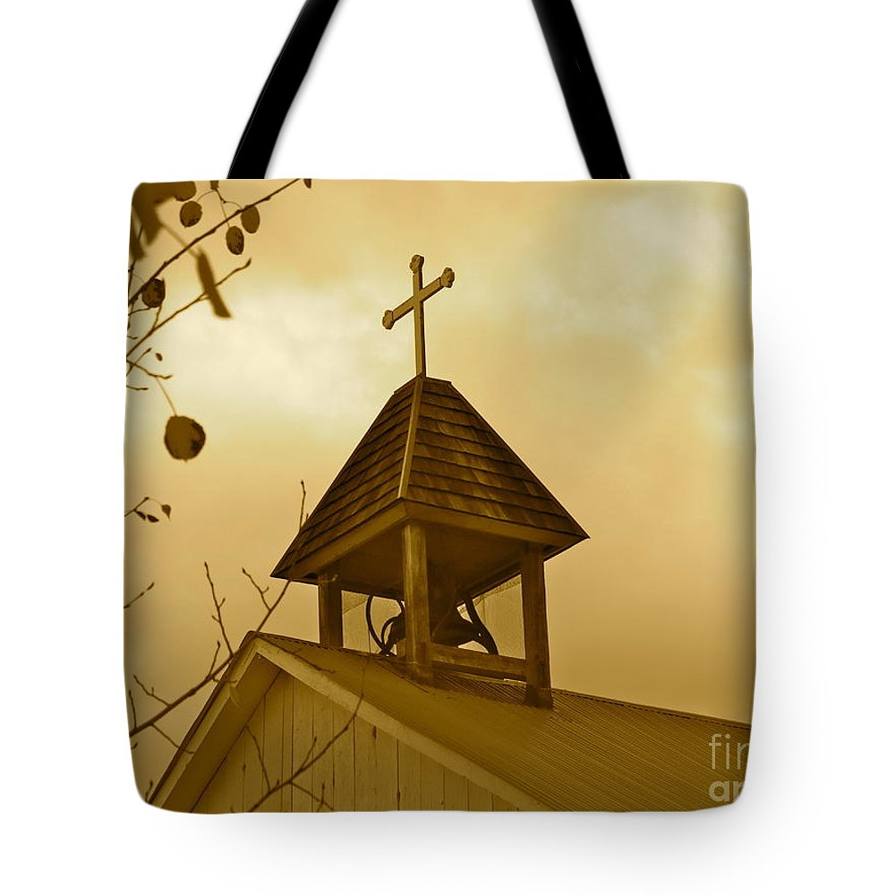 Aimee Mouw Tote Bag featuring the photograph Twilight Silently Tolls by Aimee Mouw