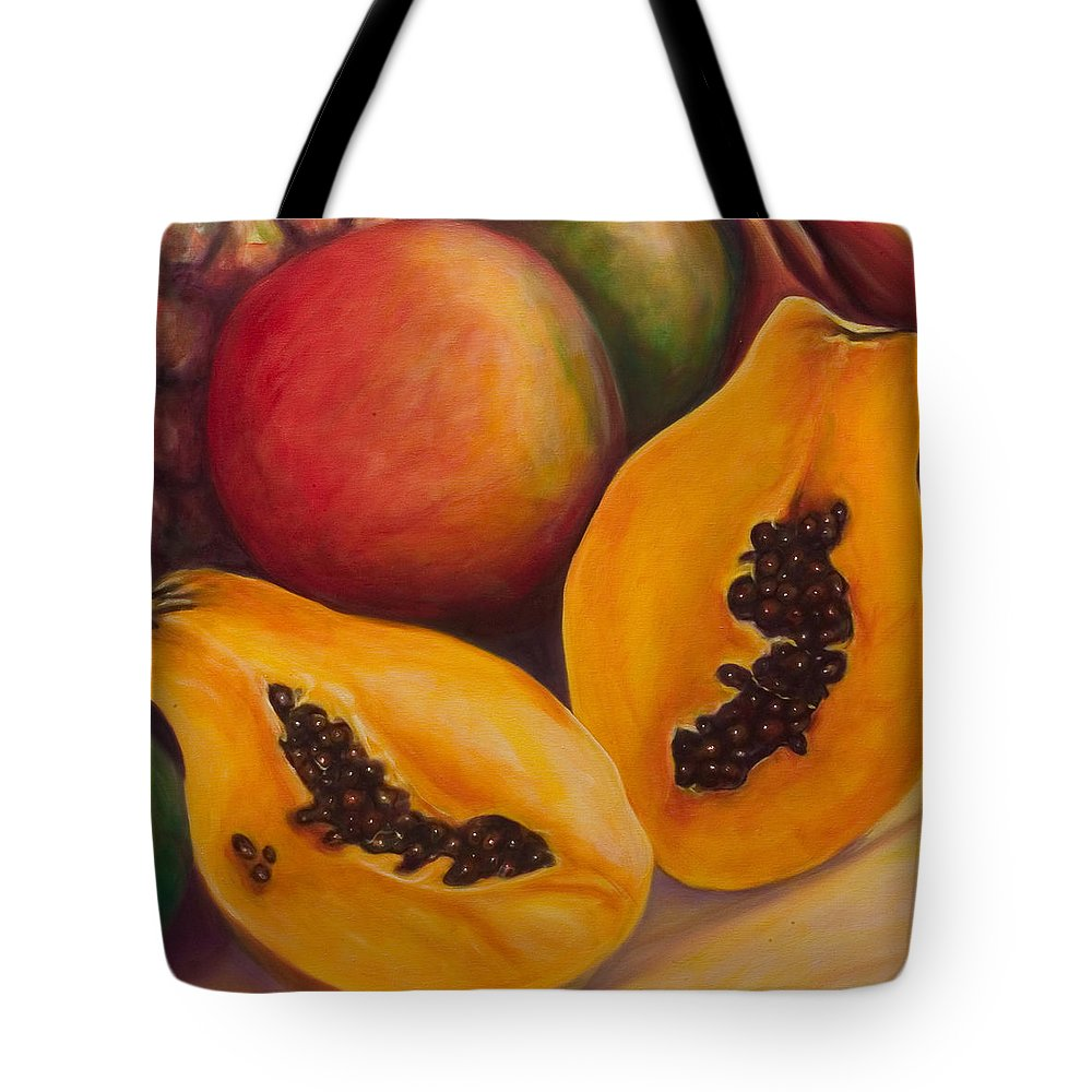 Twins Tote Bag featuring the painting Twins Crop by Shannon Grissom