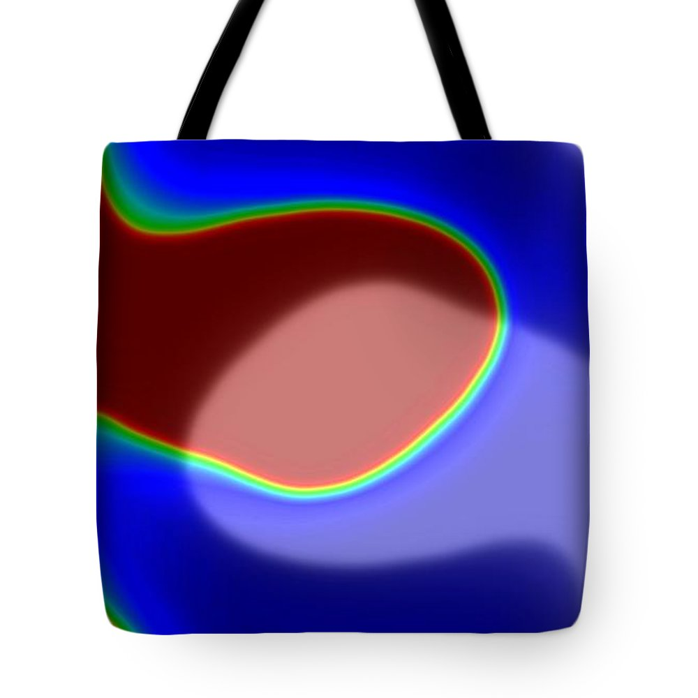Abstract Canvas Prints Tote Bag featuring the digital art Twins by Pauli Hyvonen