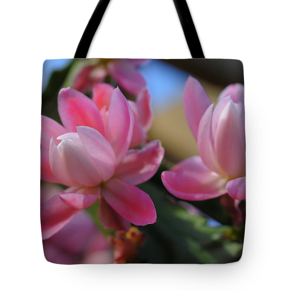Flower Tote Bag featuring the photograph Twins by Georgiana Romanovna