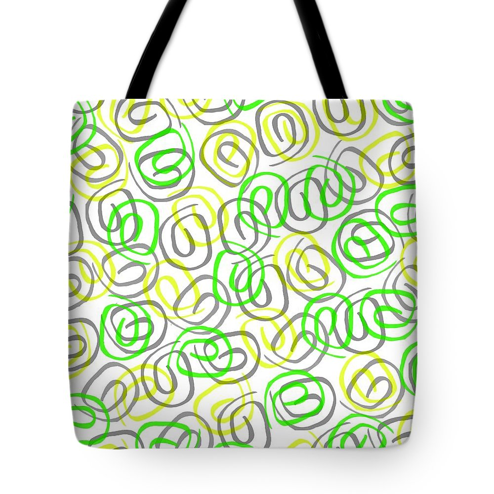 Twirls (digital) By Louisa Knight (contemporary Artist) Tote Bag featuring the digital art Twirls by Louisa Knight