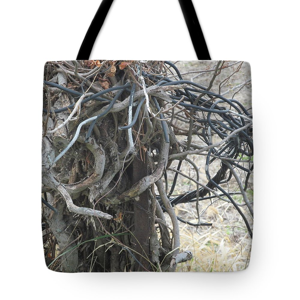 Twigs Tote Bag featuring the photograph Twisted by Tina M Wenger