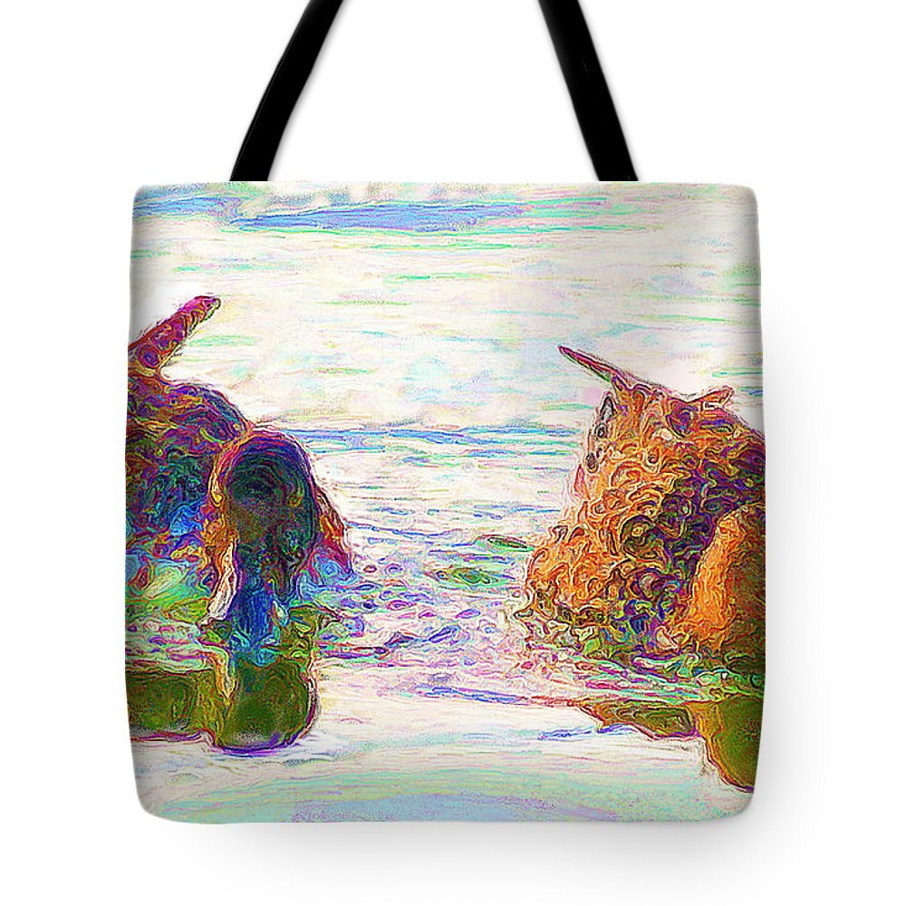Two Tote Bag featuring the photograph Two Ducks by John Kolenberg