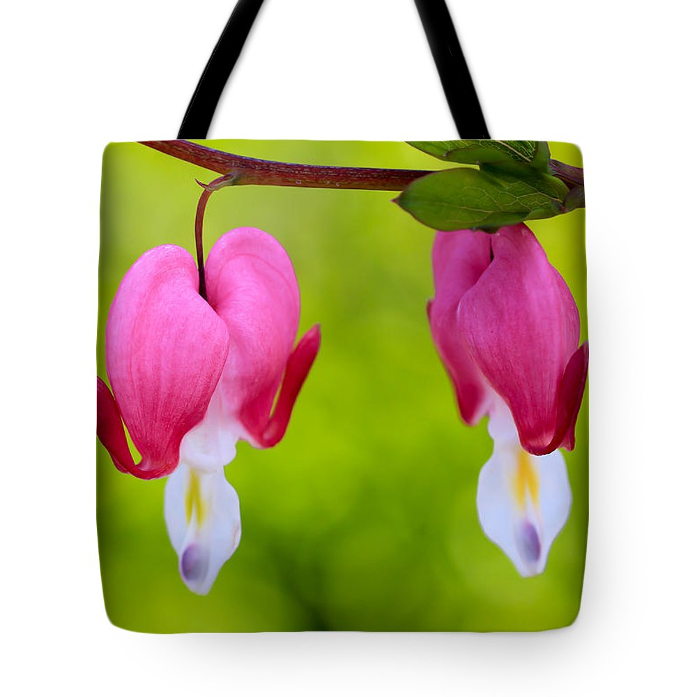 Flowers Tote Bag featuring the photograph Two Hearts by Heidi Smith
