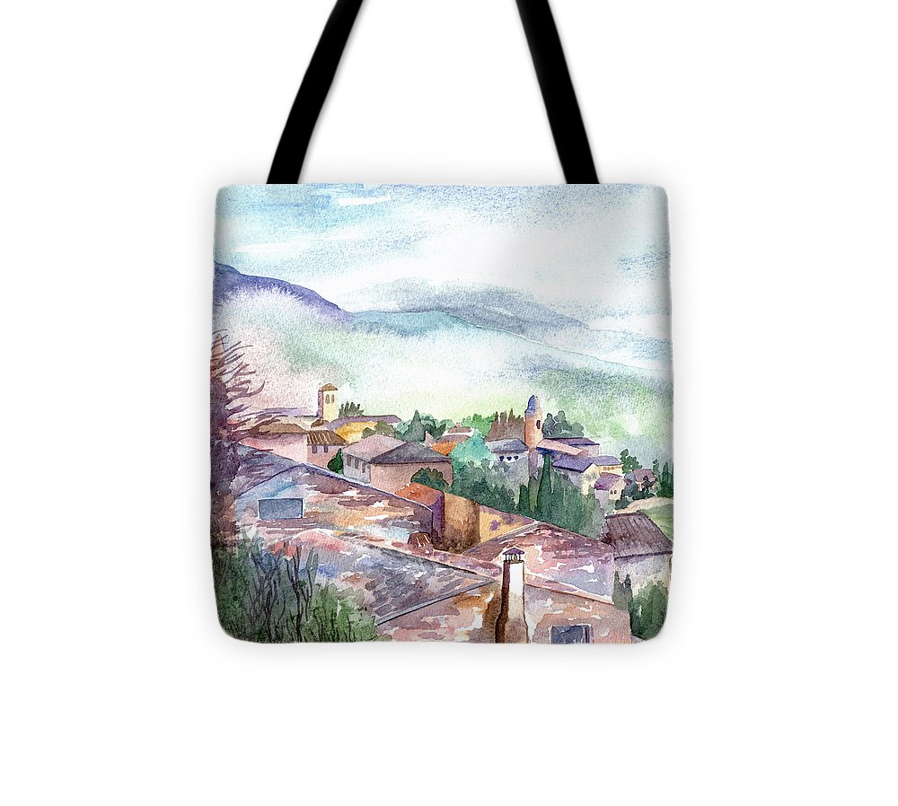 Watercolour Tote Bag featuring the painting Umbrian Paradise by Lydia Irving