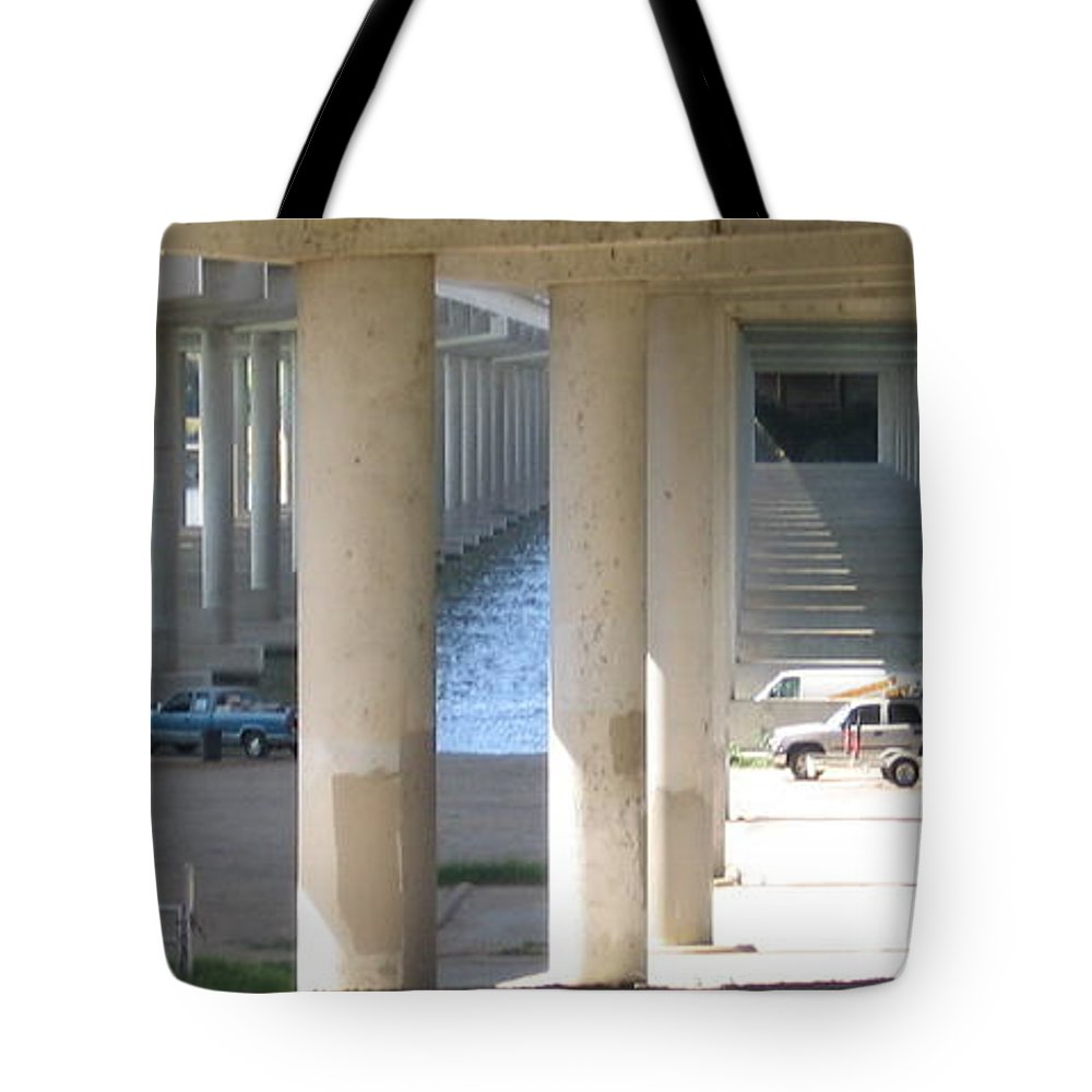 Tote Bag featuring the photograph Under The Bridge by Amy Hosp