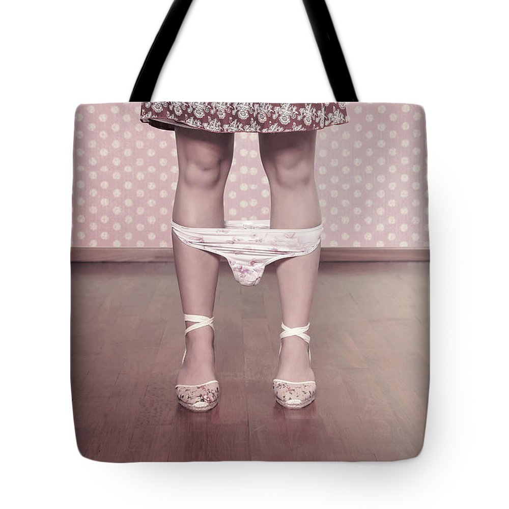 Female Tote Bag featuring the photograph Underpants by Joana Kruse