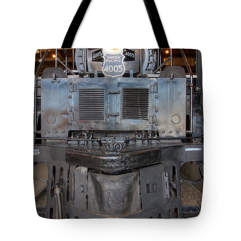 Union Pacific. Up. Up#4005 Tote Bag featuring the photograph Union Pacific Big Boy 4005 by Ken Smith