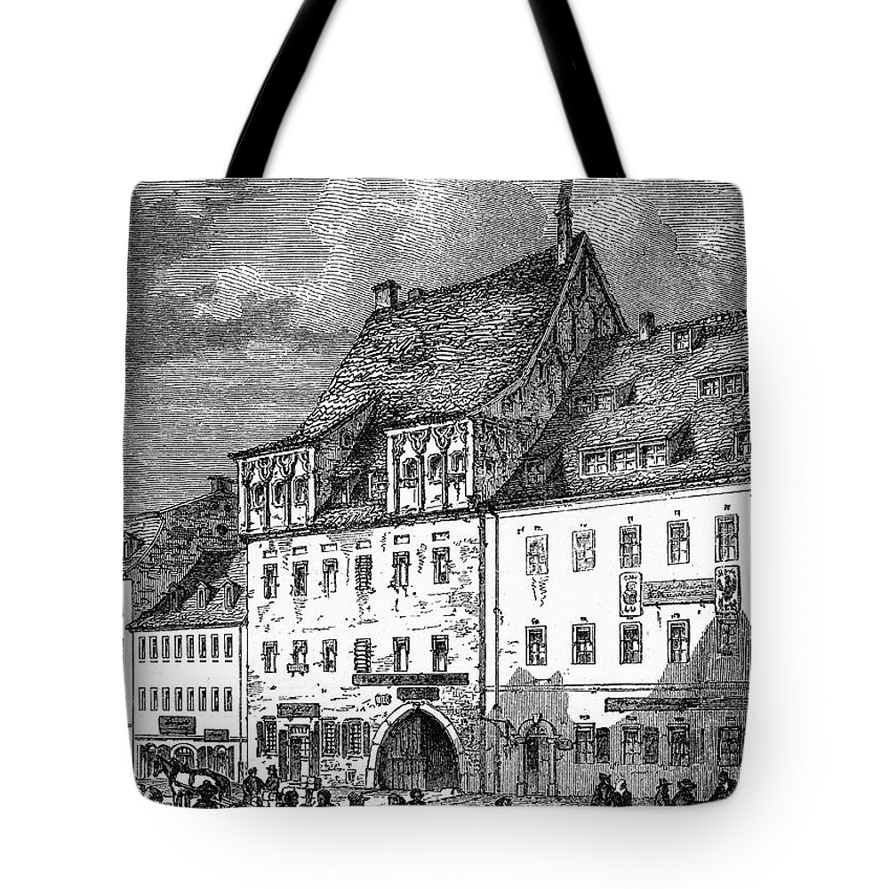 19th Century Tote Bag featuring the photograph University Of Leipzig by Granger