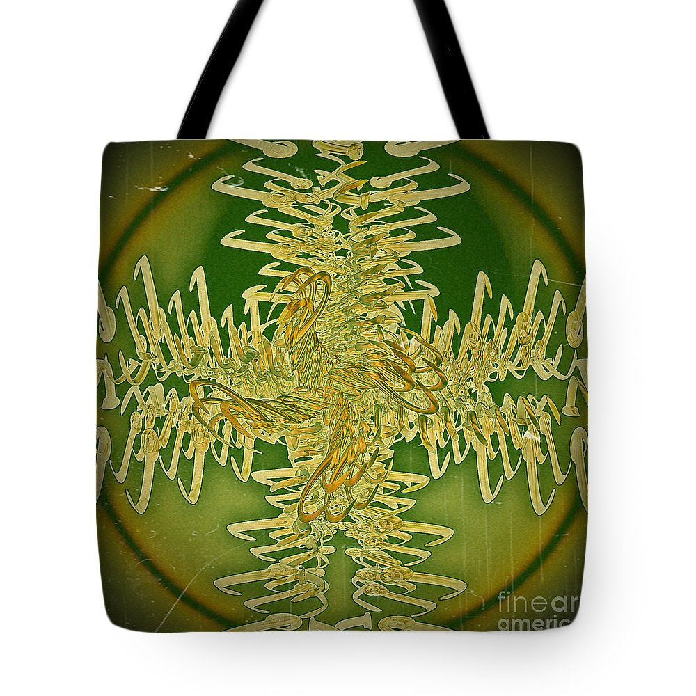 Abstract Tote Bag featuring the digital art Unraveled by Leslie Revels
