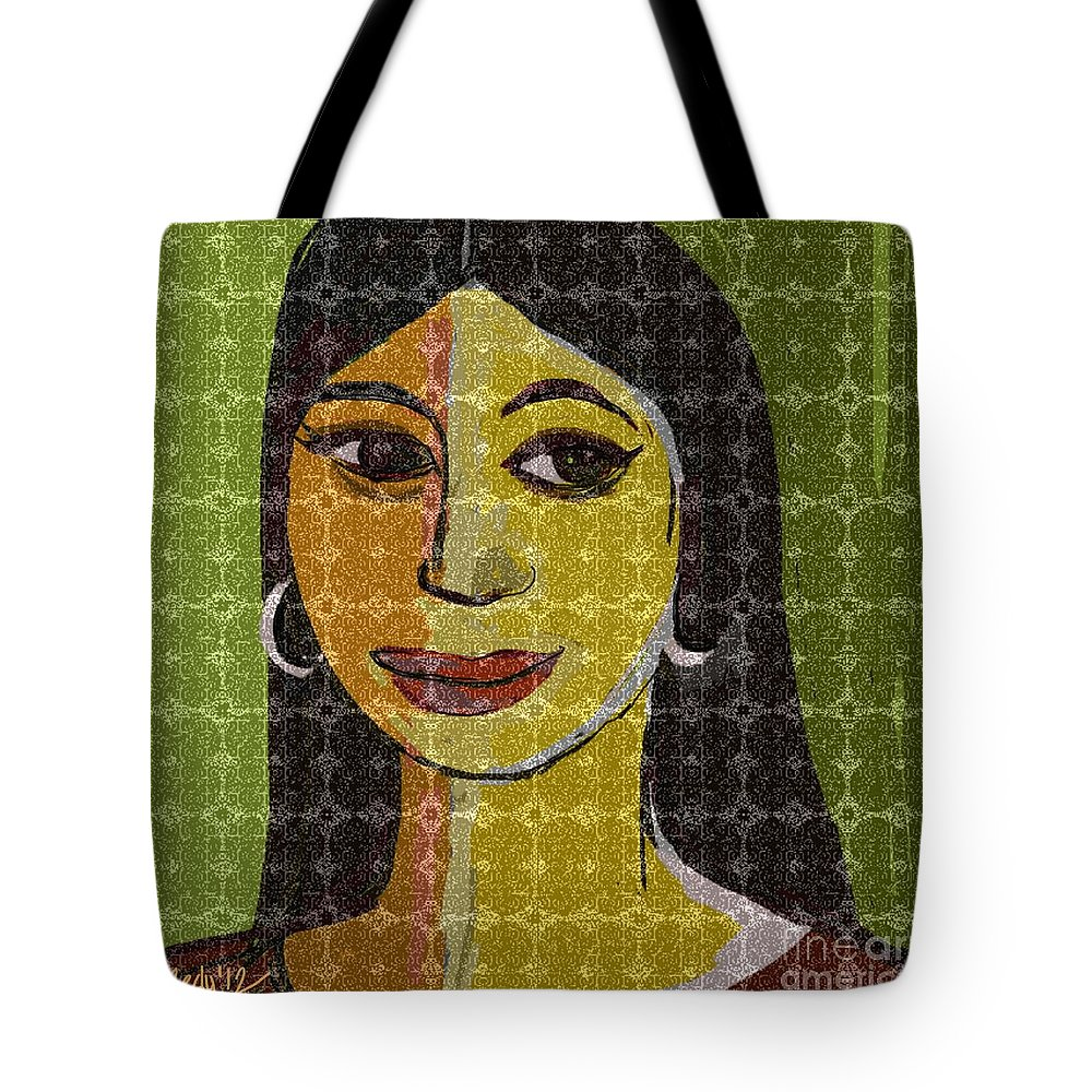 Paintings Tote Bag featuring the painting Untitled 133 by Nedunseralathan R