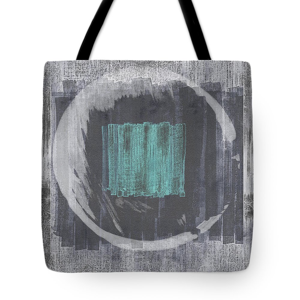 Squares Tote Bag featuring the painting Untitled No. 37 by Julie Niemela