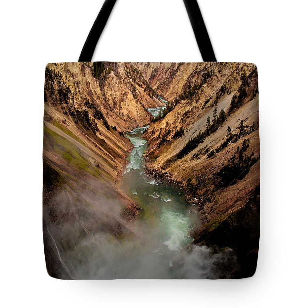 Scenic Tote Bag featuring the photograph Upper Yellowstone Falls by Robert Bales