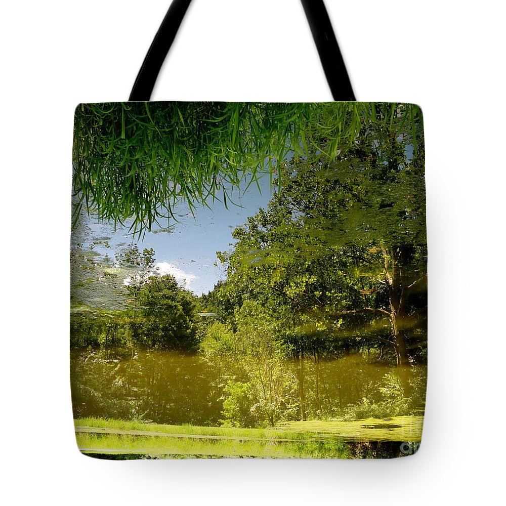 Holmesbrook Tote Bag featuring the photograph Upside Down And Backwards by Trish Hale