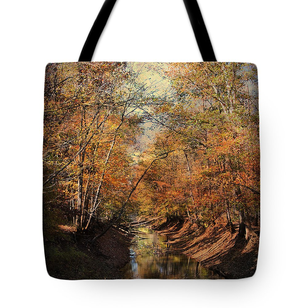 Autumn Landscape Tote Bag featuring the photograph Upstream by Jai Johnson