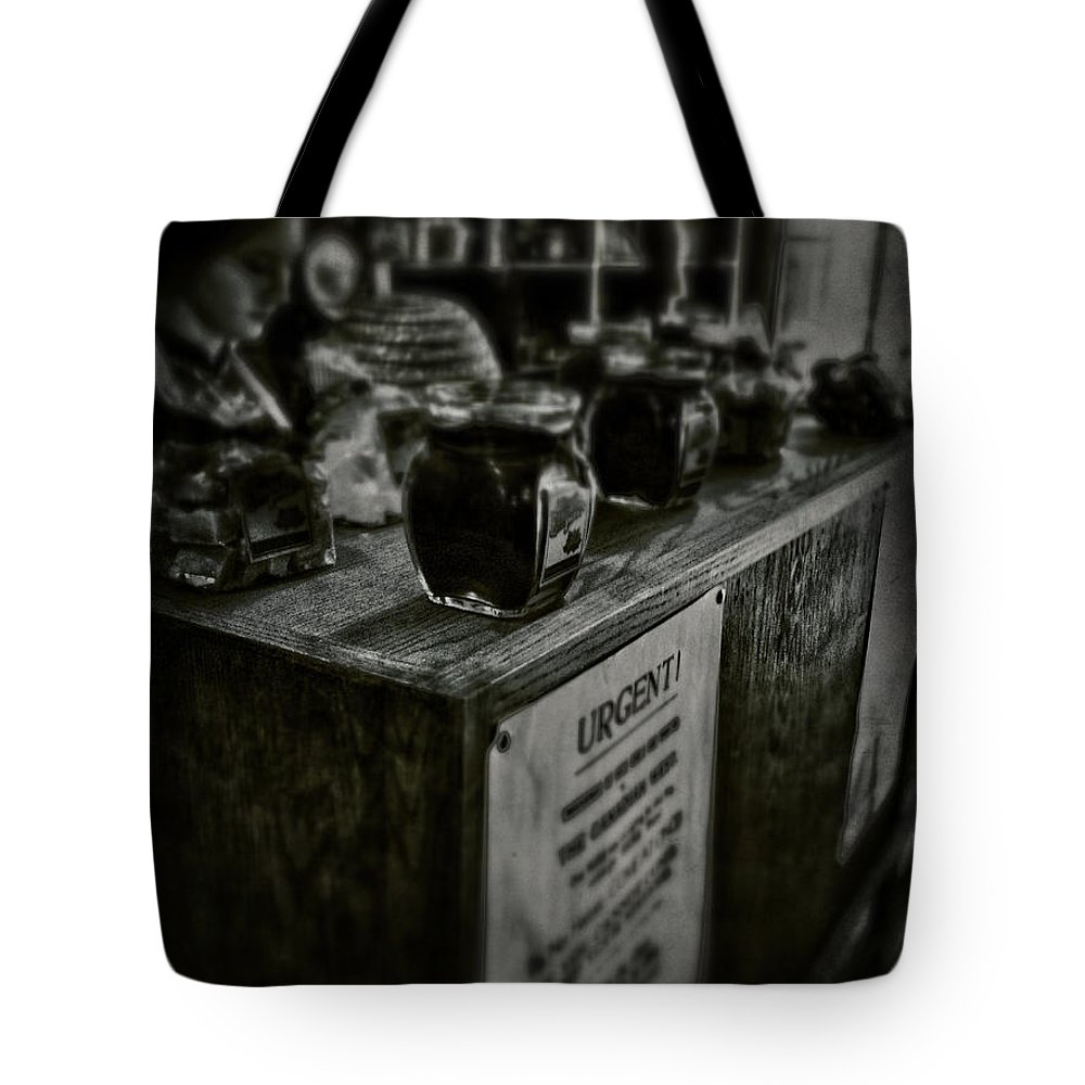 Rural Tote Bag featuring the photograph Urgent Remedies by The Artist Project