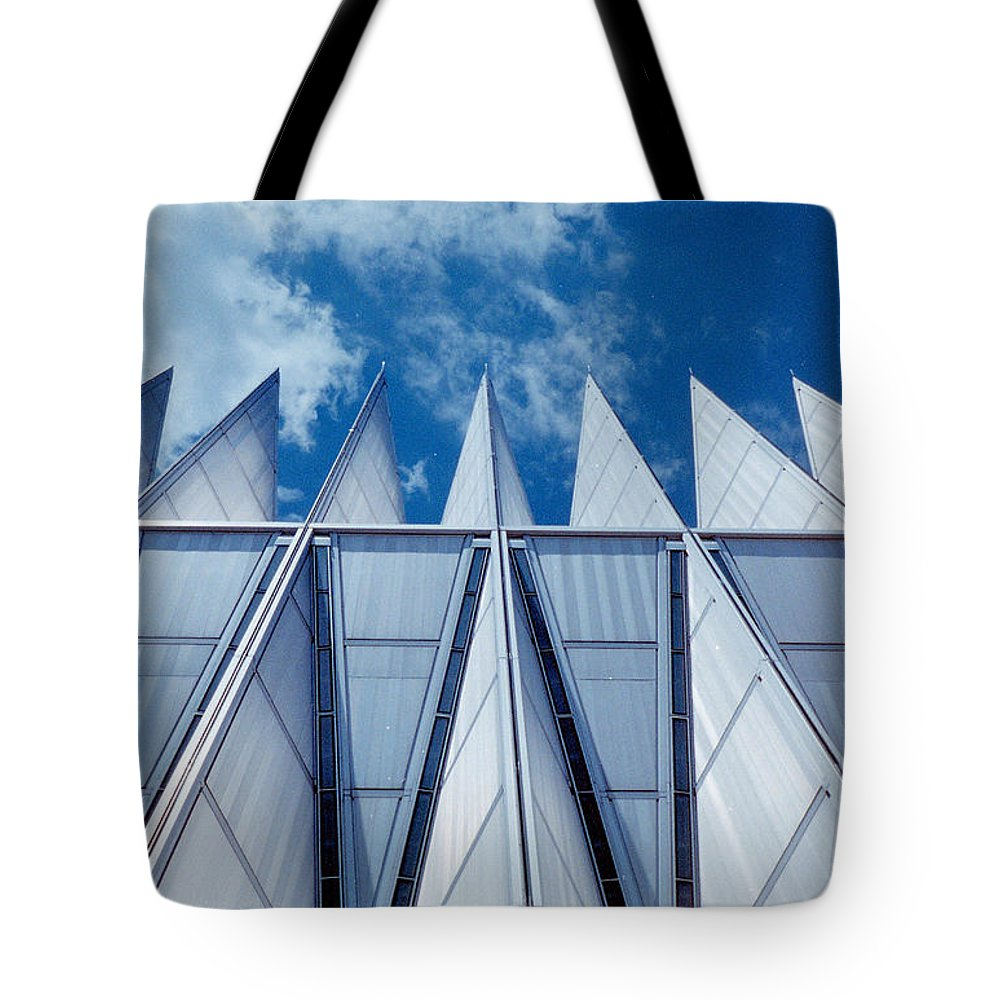 Air Tote Bag featuring the photograph Us Air Force Academy Chapel by Michael Merry