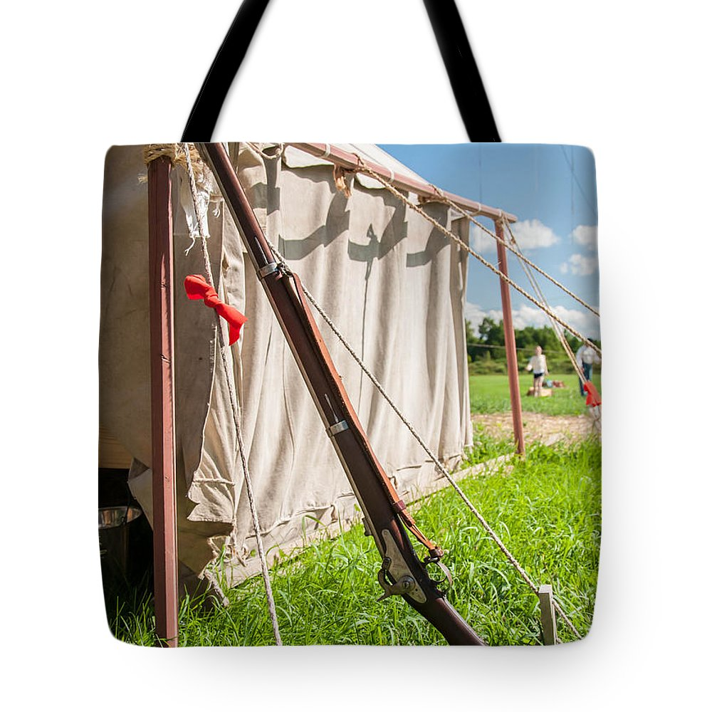 Civil War Tote Bag featuring the photograph Usa Springfield 1861 by Guy Whiteley
