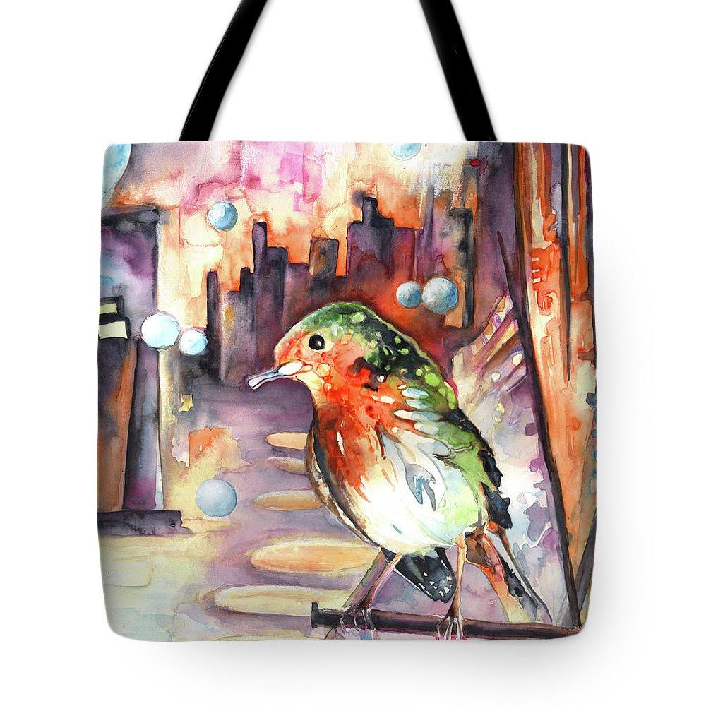Animals Tote Bag featuring the painting Vagabond De La Nuit by Miki De Goodaboom