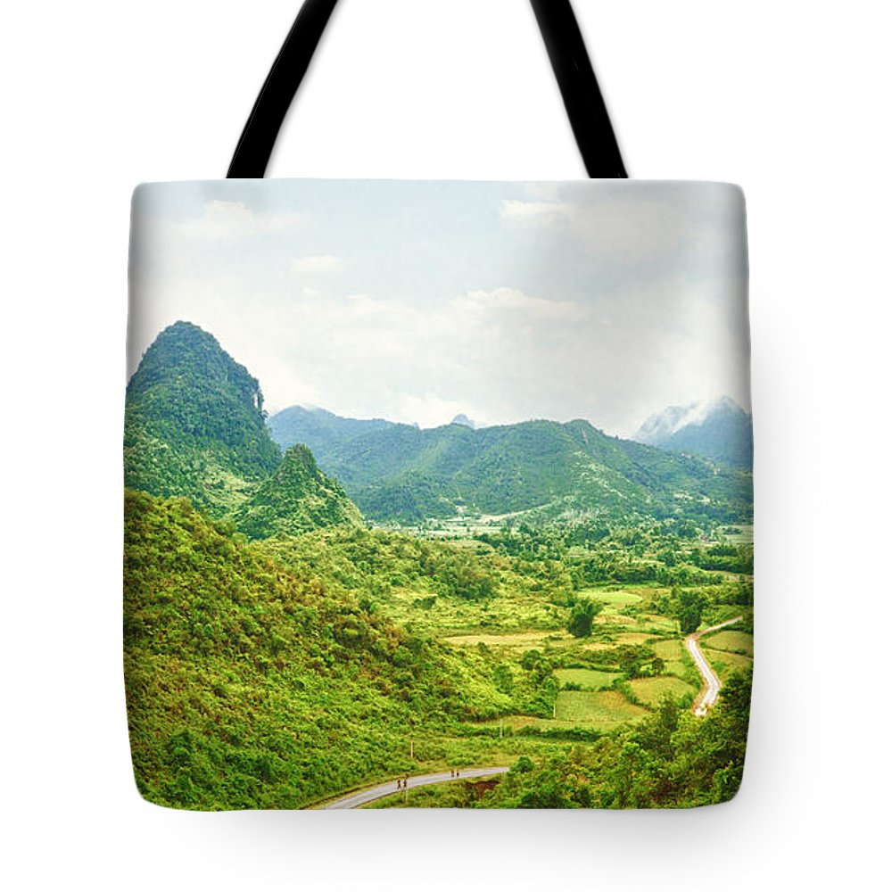 Valley Tote Bag featuring the photograph Valley Panorama by MotHaiBaPhoto Prints