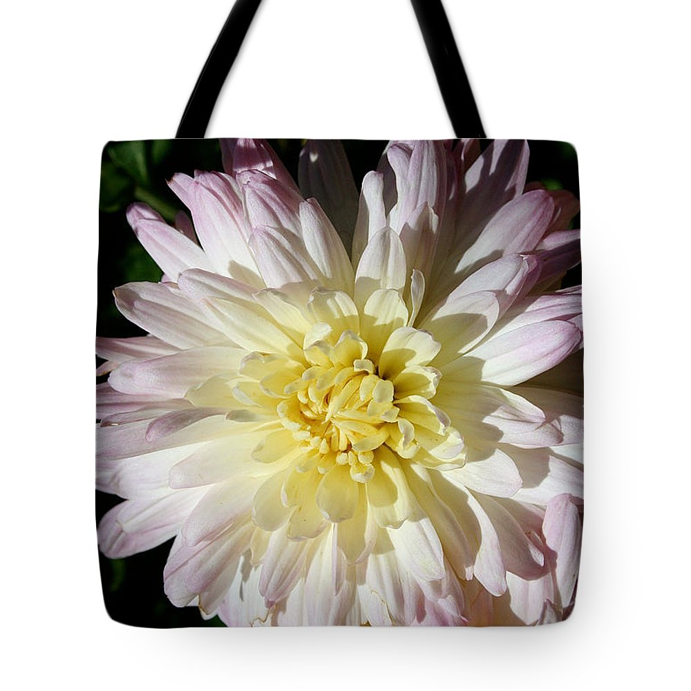 Flower Tote Bag featuring the photograph Vanilla Mum by Susan Herber
