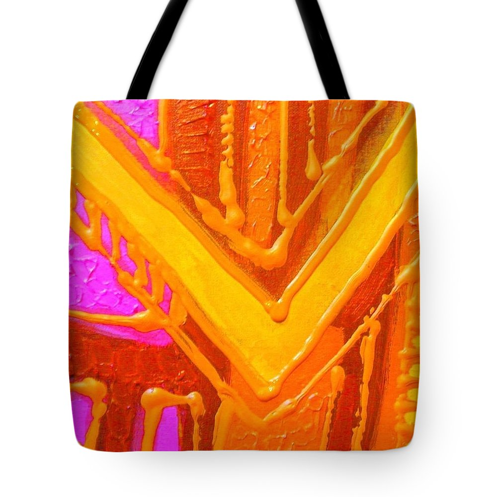 Abstract Tote Bag featuring the painting Variations On A Theme by John Nolan